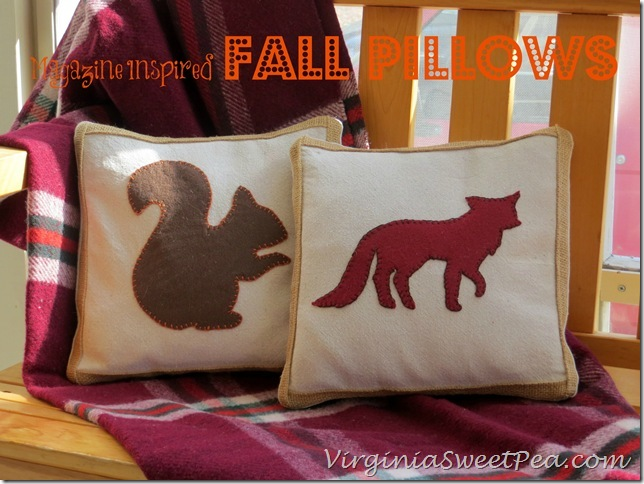 Magazine Inspired Fall Pillows