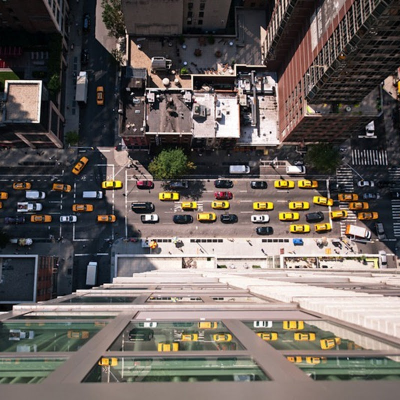 New York Intersection from Above: Photography by Navid Baraty