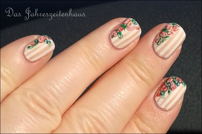 In Bloom Nail Art Roses Vintage Spring Design 7