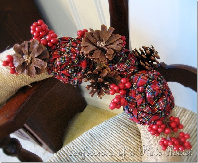 CONFESSIONS OF A PLATE ADDICT Fabric and Pine Cone Roses