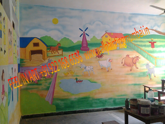 PLAY SCHOOL WALL MURAL IN MUMBAI / NEW MUMBAI / THANE MAHARASHTRA
