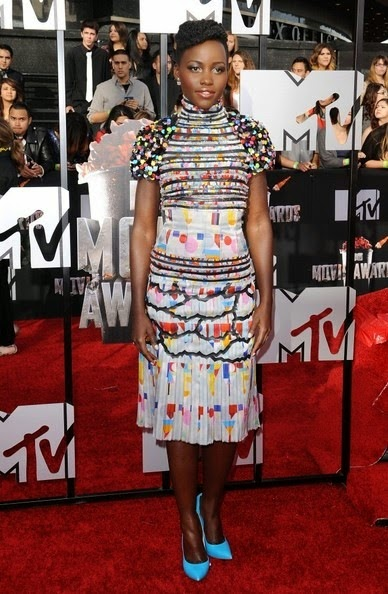 Lupita Nyong 2014 MTV Movie Awards Arrivals