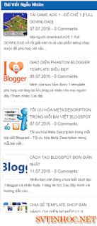 Code bài đăng ngẫu nhiên cho blogspot