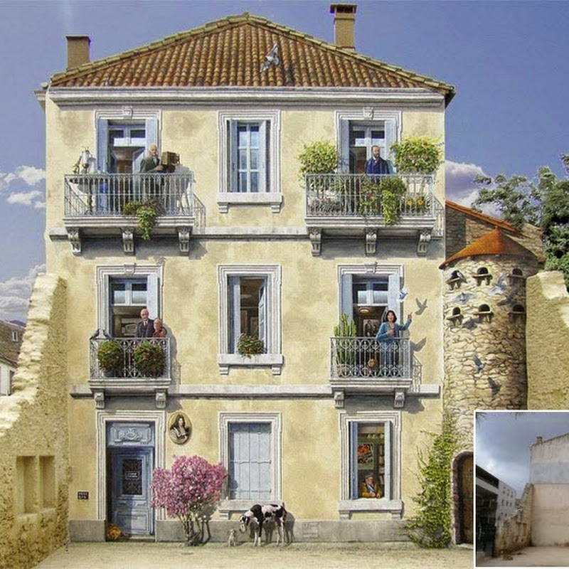 Fake Facades: Patrick Commecy's Clever Street Art