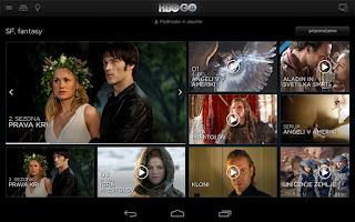Screenshot of HBO GO Slovenia