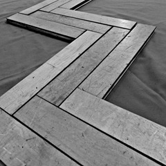 floor slat art bw square