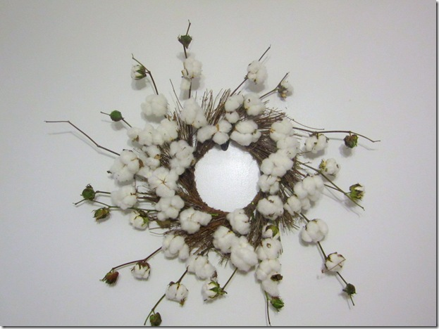 Cotton Whispy Wreath