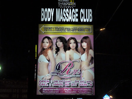 Sex Thailanda: reclama body massage