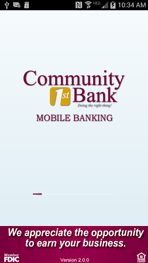 Community 1st Bank Mobile