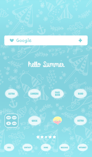 Hello Summer dodol theme