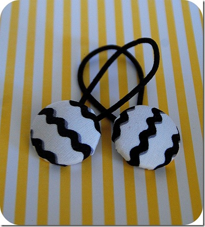 covered button hair bands