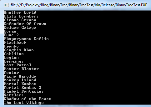 string binarytree