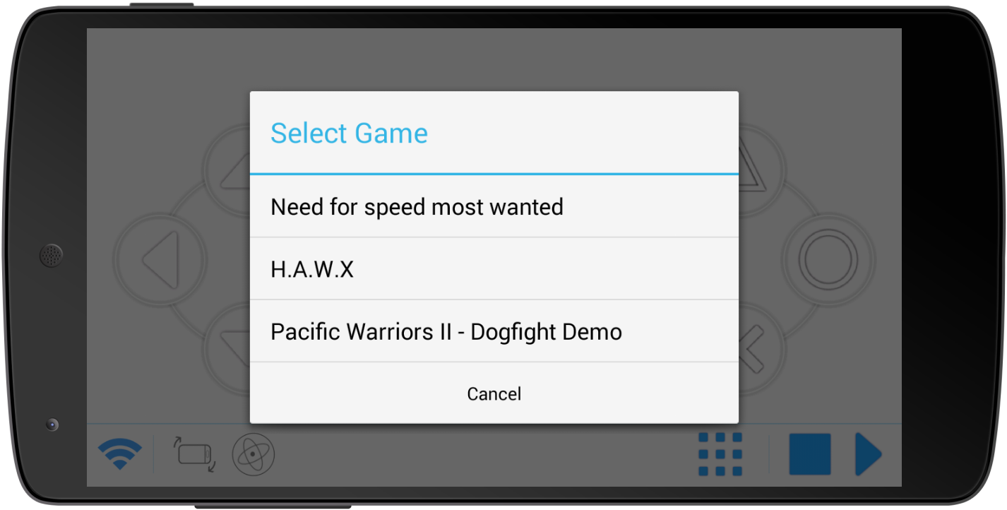 Mobile Gamepad- screenshot