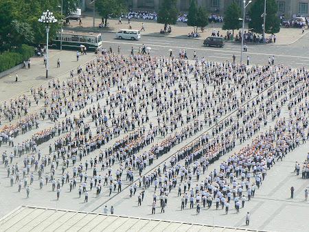 Spectacole omagiale Coreea de Nord: pregatirea de ziua nationala