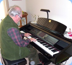 George Watt playing the Clavinova CVP-210