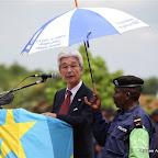 Kanji Kitazawa, Ambassadeur du Japon, en visite à Kisangani, décembre 2010.