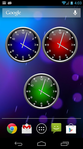 3d Glow Analog Clock Set