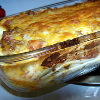 Smothered Mexican Lasagna