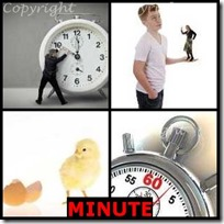 MINUTE- 4 Pics 1 Word Answers 3 Letters