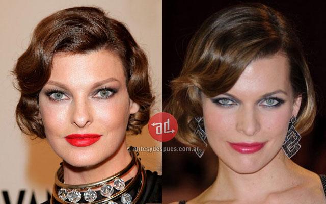 El parecido de Linda Evangelista y Milla Jovovich