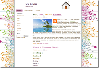 White blogger templates