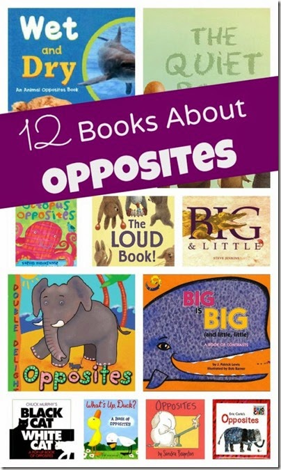 12 books about opposites for Kids #preschool #kindergarten #bookstoread #bookrecommenations #booklist