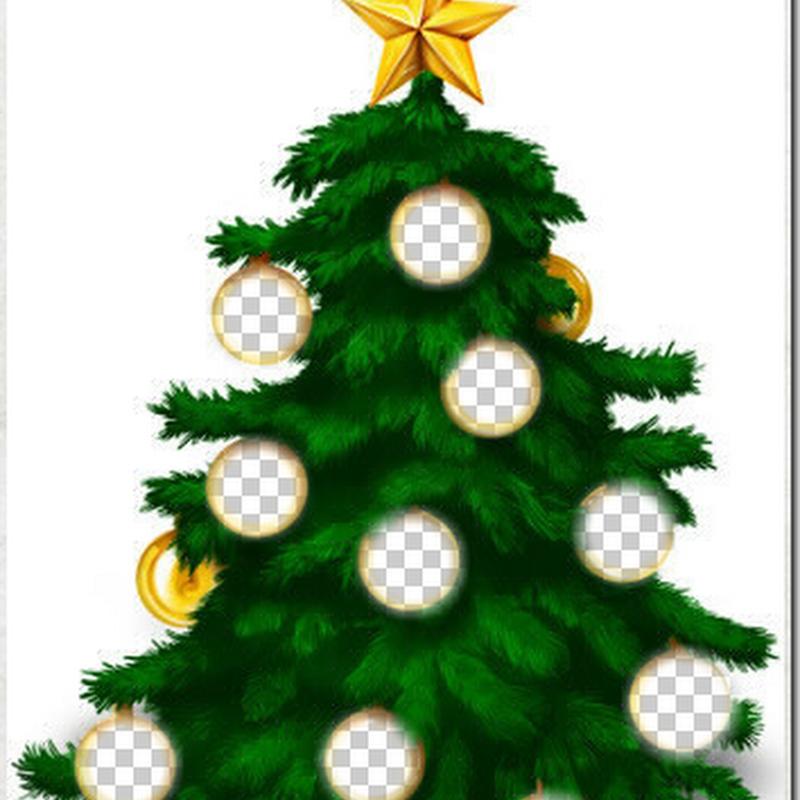 Crea un árbol de Navidad con las fotos de tus amigos