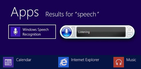 Windows 8 Speech Recognition