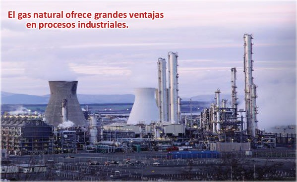 Uso del gas natural en la industria