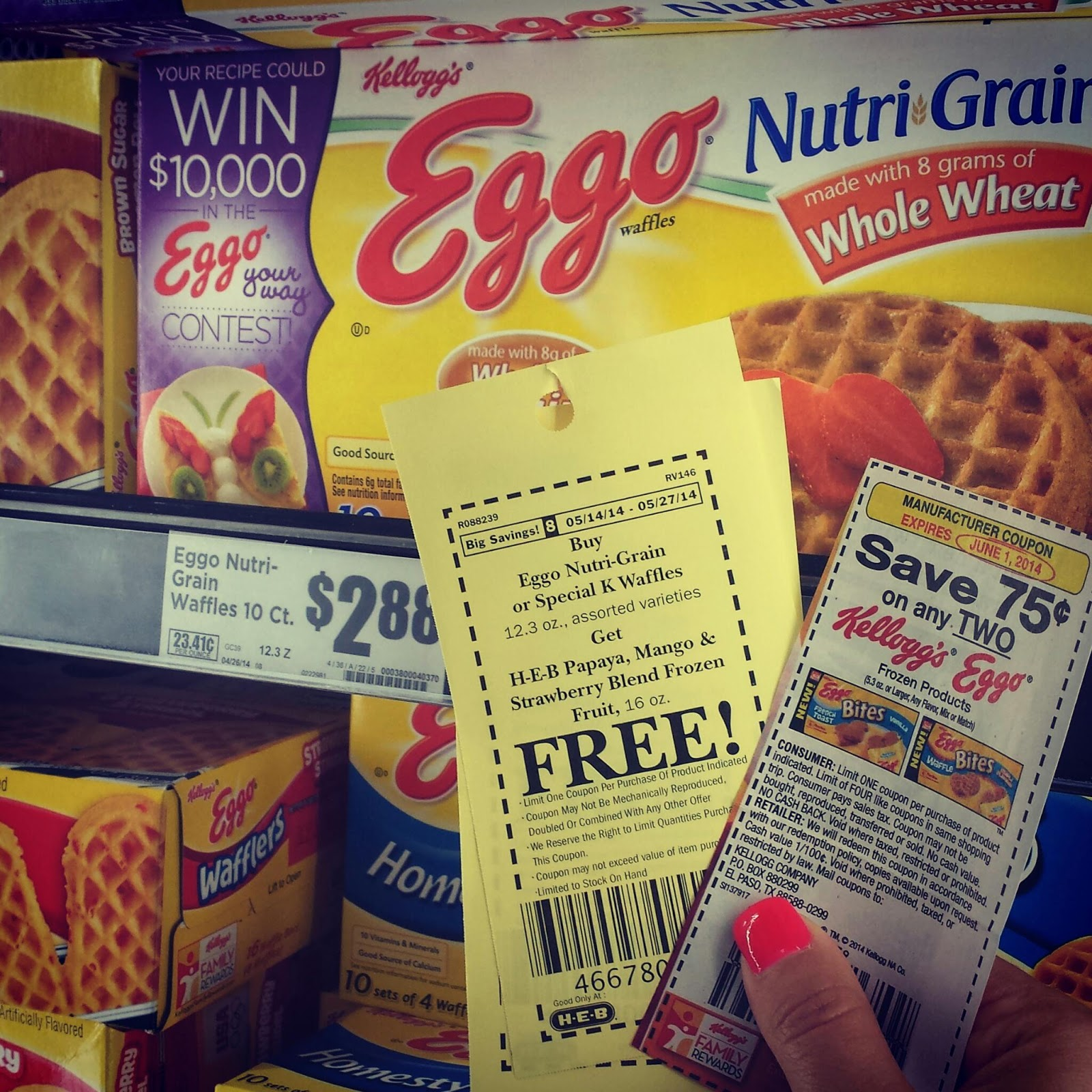 Eggo Nutri-Grain Waffles Combo Deal