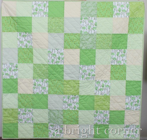 green baby quilt