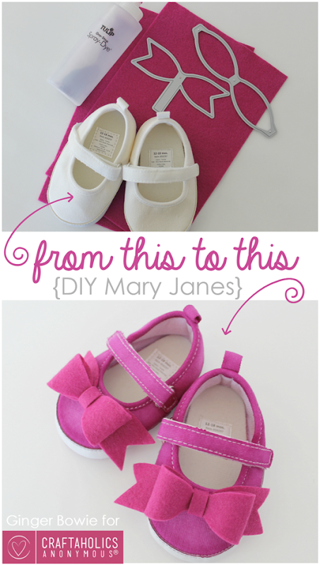 DIY Mary Janes baby shoes