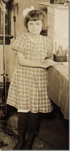 Edna Lillie Webster at Dental Office in Brinkley Arkansas January to April 1922
