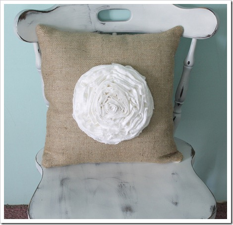 Spring Decorating Ideas: Ruffled Flower Pillow