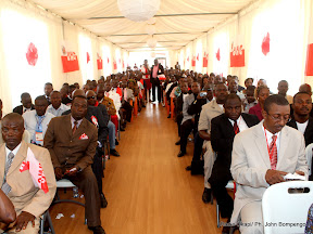 Quelques participants au congrès de l'UNC ce 28/07/2011 à Kinshasa. Radio Okapi/ Ph. John Bompengo