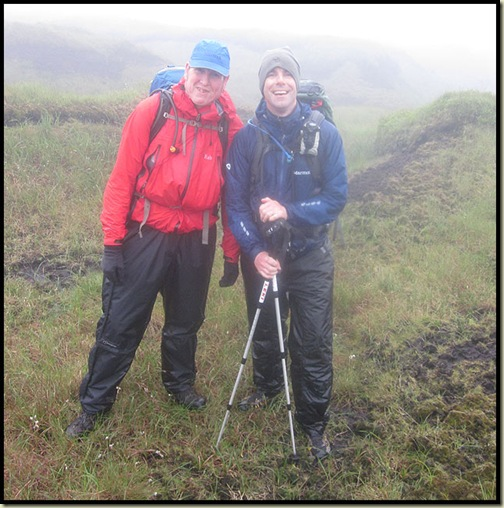 At last - Andy and Gareth in the mist