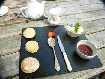 Cream tea in Wales