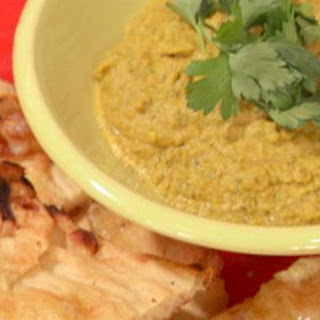 Lentil and Split Pea Dip with Roasted Garlic Naan Recipe