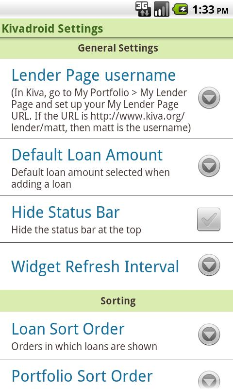 Kivadroid: Kiva on your Droid! - screenshot
