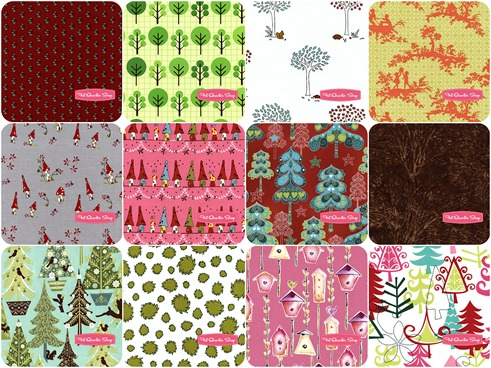 FQS - House and tree Fabric