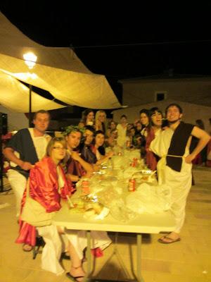 Sopar romà en motiu de I Jornadas sobre la Villa Romana de Noheda. (Foto: Victoria Silva Martínez)