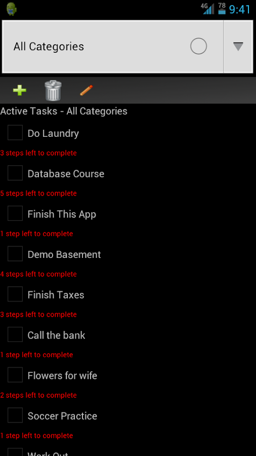 To Do List Task Manager - screenshot