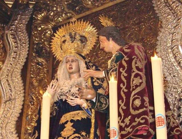 H. del Silencio. V. de la Concepción y san Juan Evangelista.