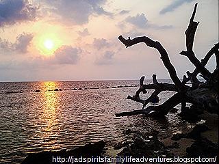 Stunning sunset of Potipot Island_vibrant af