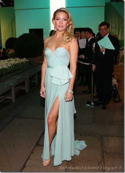 Kate Hudson Tiffany Blue Gala