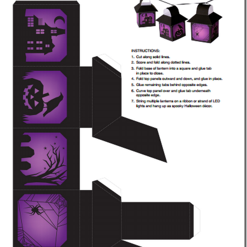 Farolillos de halloween, plantillas para imprimir