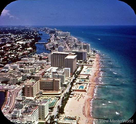 View-Master Miami and Miami Beach (A963), Scene 17: Miami Beach Hotels