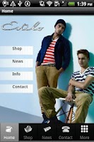 Screenshot of Estilo Clothing