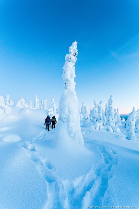 snow shoeing iso syote finland