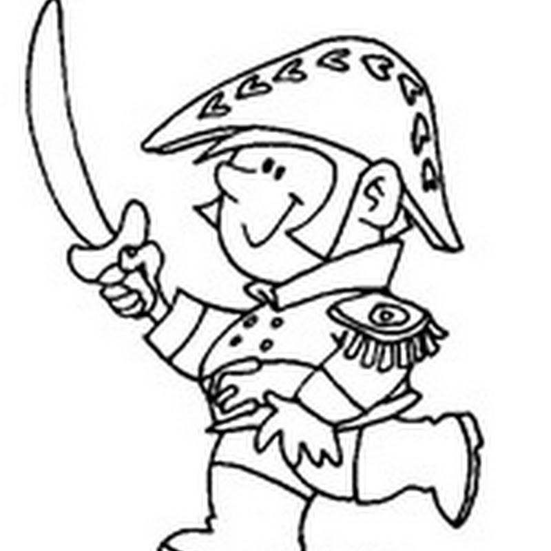 Dibujos del General San Martín para colorear